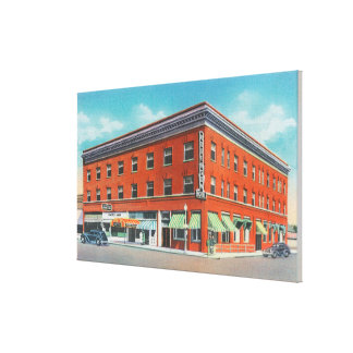 Exterior View of the New Rogerson Hotel Canvas Print