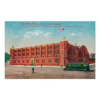 Exterior View of the New State Armory Bldg Poster