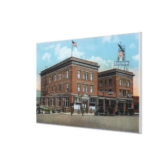 Exterior View of the New Wenatchee Hotel Canvas Print