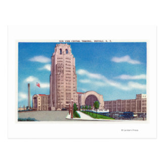 Exterior View of the NY Central Terminal Bldg Postcard