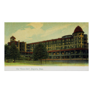 Exterior View of the Ocean-Side Bldg Poster