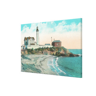 Exterior View of the Pigeon Point Lighthouse Canvas Print