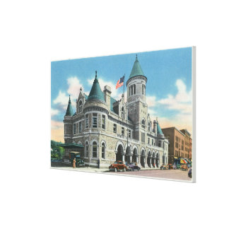 Exterior View of the Post Office 4 Canvas Print