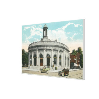 Exterior View of the Post Office Canvas Print