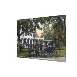 Exterior View of the Post Quarters Canvas Print