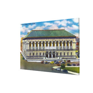 Exterior View of the Public Library Canvas Print