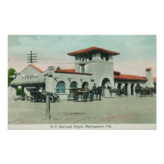 Exterior View of the Southern Pacific Depot 2 Poster