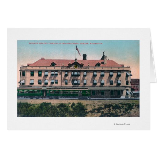 Exterior View of the Terminal and Depot Greeting Card
