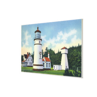 Exterior View of the Umpqua LighthouseCoast Canvas Print