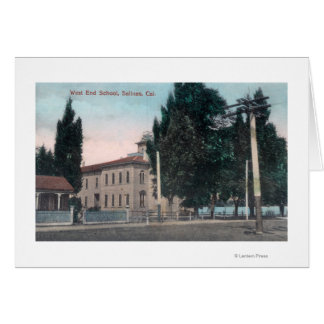 Exterior View of the West End School Greeting Card