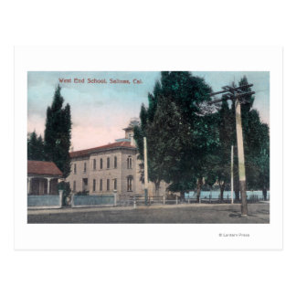 Exterior View of the West End School Postcard