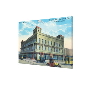 Exterior View of the Western Hotel Canvas Print