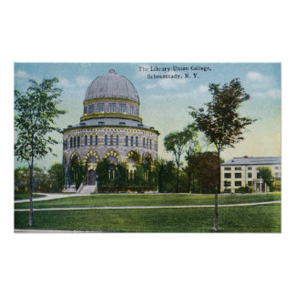 Exterior View of Union College Library Poster