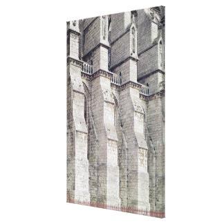 Exterior View showing the Buttresses Stretched Canvas Print