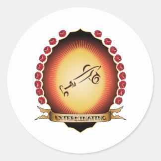 Exterminating Mandorla Round Sticker