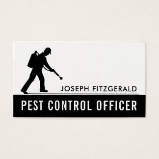 Exterminator, Black & White Pest Control Business Card