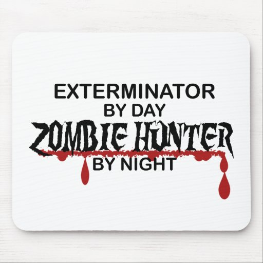 Exterminator Zombie Hunter Mouse Pads
