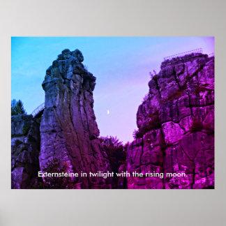 Externsteine in twilight 002.F.03T Poster