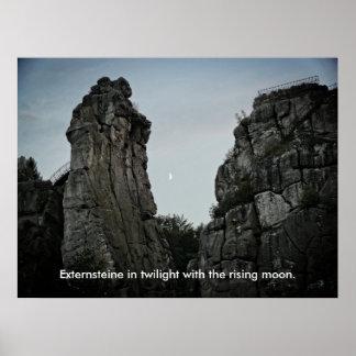 Externsteine in twilight 002.F.04T Poster
