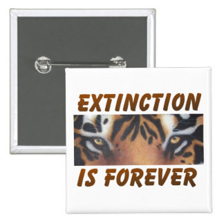 Extinction is forever 15 cm square badge