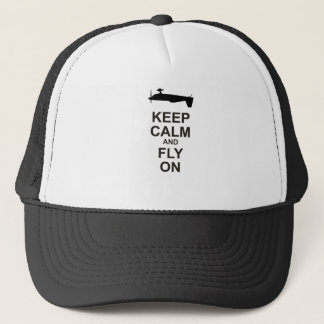 Extra Aircraft Keep Calm Black and Fly On Trucker Hat