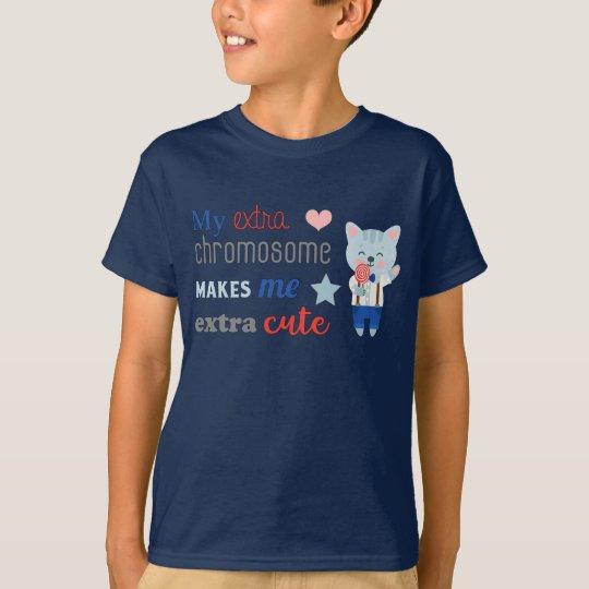 Extra Chromosome, Extra Cute Cat T-Shirt