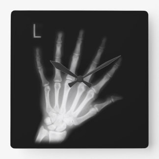 Extra Digit X-ray Left Hand Wall Clocks