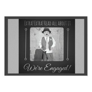 Extra! Extra! 13 Cm X 18 Cm Invitation Card