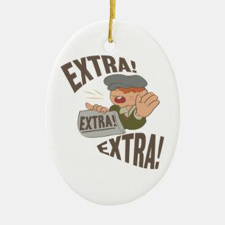Extra Extra Christmas Ornament