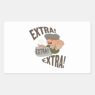 Extra Extra Rectangular Sticker