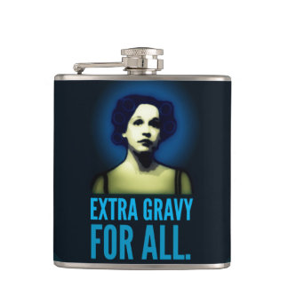 Extra Gravy for all.  Communion flask. Flasks