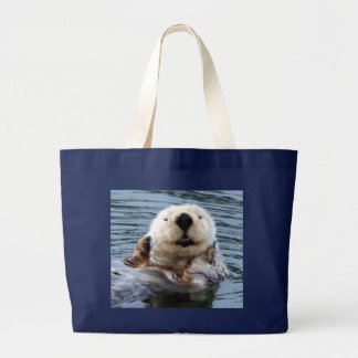 Extra large bag with blonde California Sea Otter