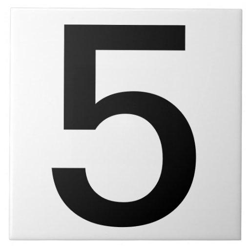 "Extra Large House Number Tiles 6""x6"" | Zazzle"
