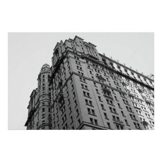 Extra Large New York City B&W Building Poster