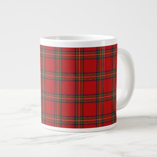 Extra Large Royal Stewart Tartan Tea/Coffee Mug