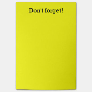 Extra Large Yellow notes | Custom office supplies