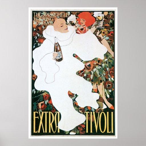 Extra Tivoli Vintage Wine Drink Ad Art Poster