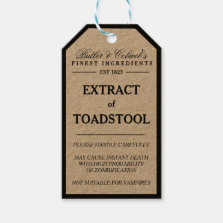 Extract of Toadstool Halloween apothecary tag