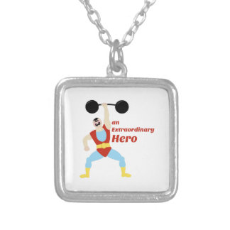 Extraordinary Hero Square Pendant Necklace