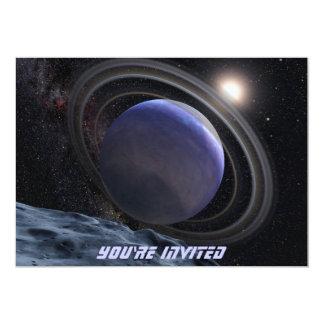 Extrasolar Planet 13 Cm X 18 Cm Invitation Card
