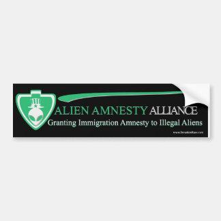 Extraterrestrial Alien Amnesty Car Bumper Sticker