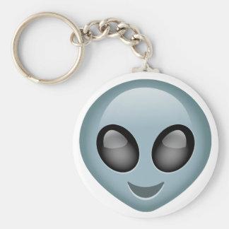 Extraterrestrial Alien Emoji Basic Round Button Key Ring