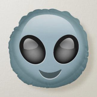 Extraterrestrial Alien Emoji Round Cushion