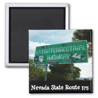 Extraterrestrial HIghway Sign Photo Magnet