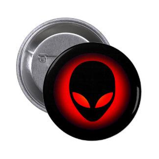 Extraterrestrial Space Alien Head 6 Cm Round Badge