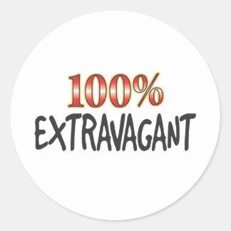 Extravagant 100 Percent Round Sticker