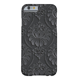 Extravagant black Flower Design Barely There iPhone 6 Case