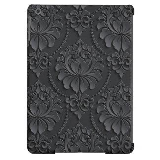 Extravagant black Flower Design iPad Air Covers