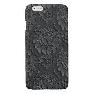 Extravagant black Flower Design iPhone 6 Plus Case