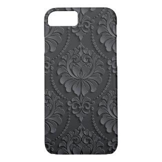 Extravagant black Flower Design iPhone 7 Case